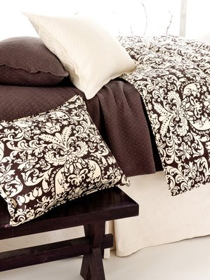 Pine Cone Hill Gianna Chocolate Cream Damask Bedding