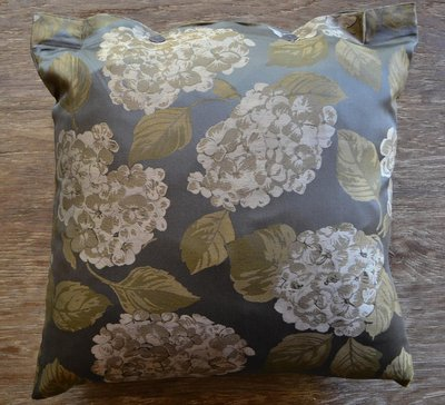 SDH Hydrangea Midnight Grey Floral Jacquard Decorative Pillow