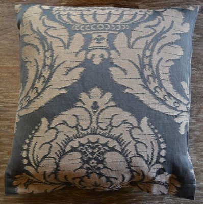 SDH Napoli Midnight Grey Jacquard Decorative Pillow