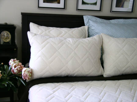 Wool Pillow Protectors by St. Dormeir