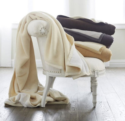 Reversible Cotton Blanket: Tonal Blanket by Scandia Down, 4 Colors