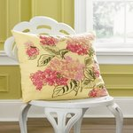 1891 by Sferra Dorothy Lemon Drop Yellow Linen Floral Pillow